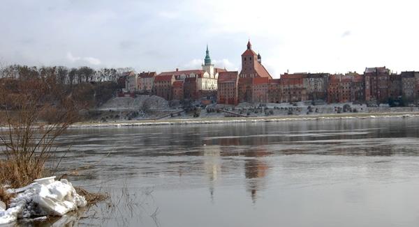 Panorama des winterlichen Graudenz