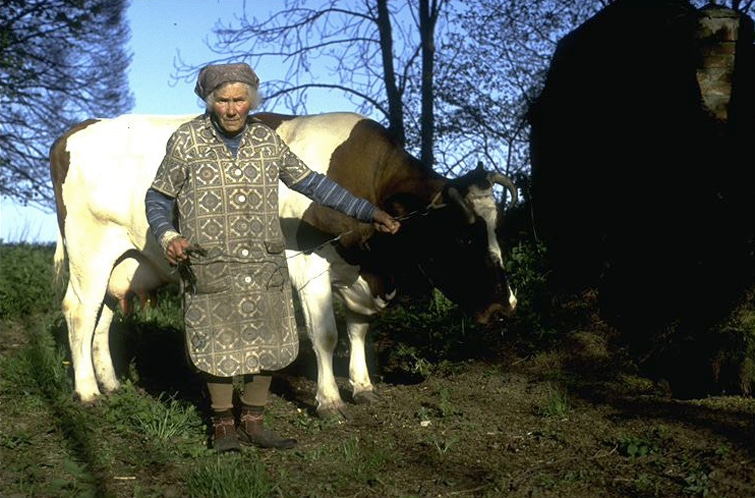 Lena mit Kuh